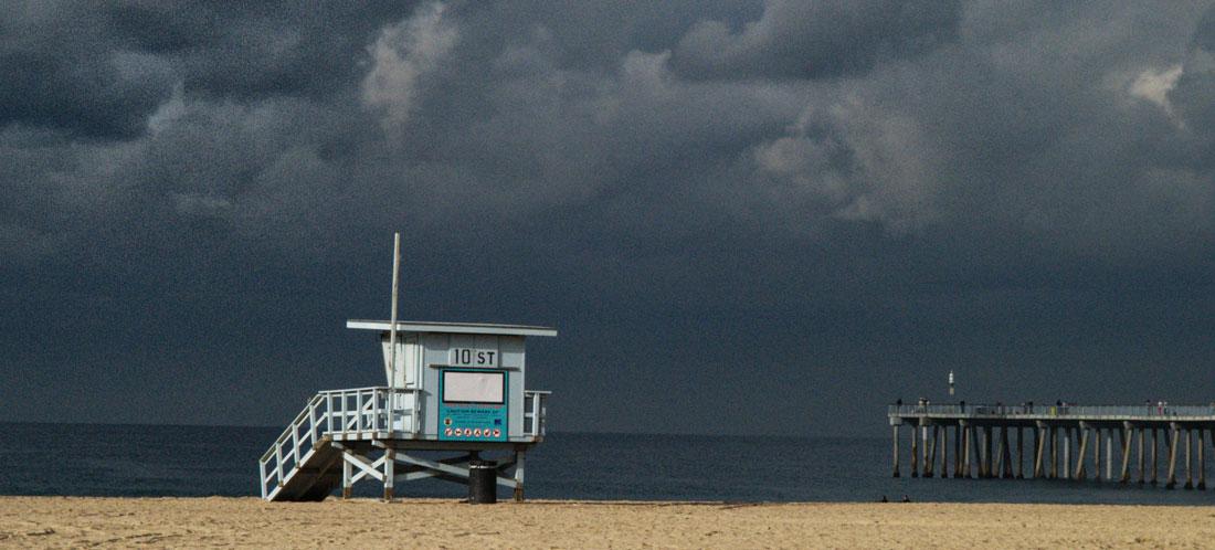 Hermosa Beach Ready for a Storm